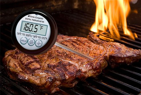 Check your meat with a thermometer